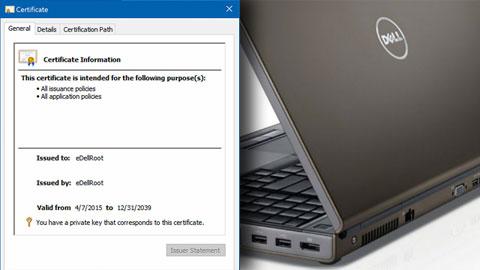 Dell certifikat