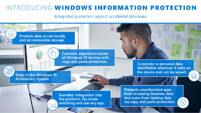 Infogram Windows 10 information  protection